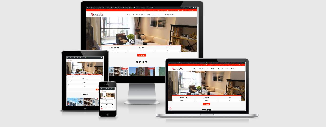 BuyrentKenya alternative - CommercialKe Responsive Real Estate Listing Website in Kenya